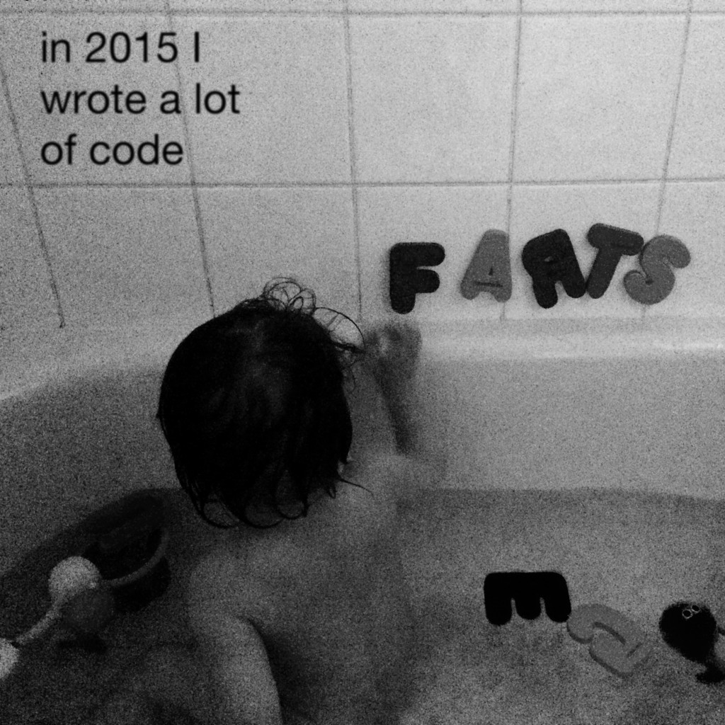 in 2015 I wrote a lot of code